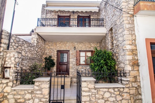 The exterior of the stone made villa in Prines, Rethymno