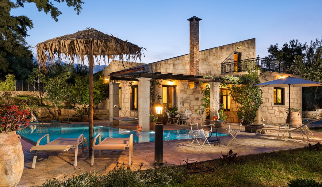 Experience romantic moments at the exterior of the villa in Maza