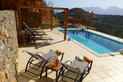 Private Crete holiday villa with wonderful sea view