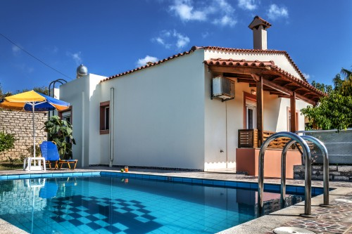Enjoy tour vacation in the private pool villa with traditional architecture and modern amenities in the picturesque village of Prinos