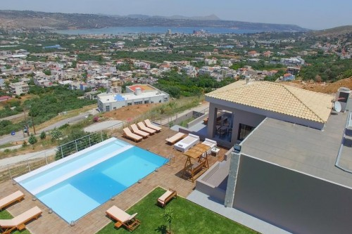 Villa Kedria Chania Villas Villa Kedria with private heated pool and panoramic ocean view