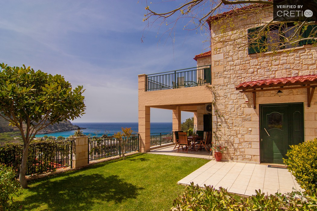 West Crete rental villa with sea view