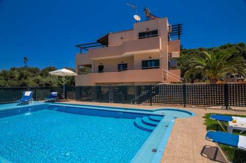 Two floor villa with panoramic view of the area of Almyrida