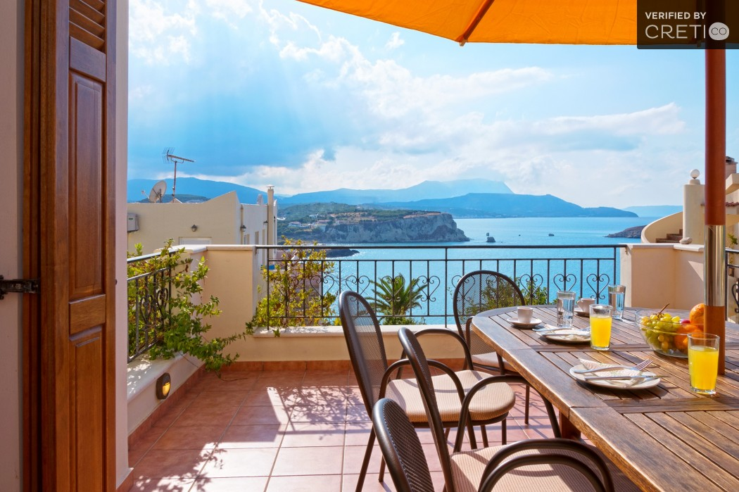 Enjoy your meal and the unique view of Almyrida bay