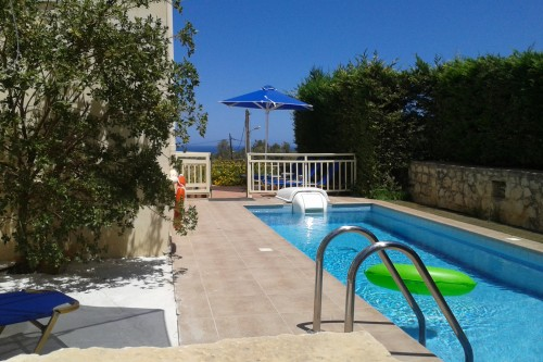 Romantic vacation rental, sea view & private pool, Rethymno