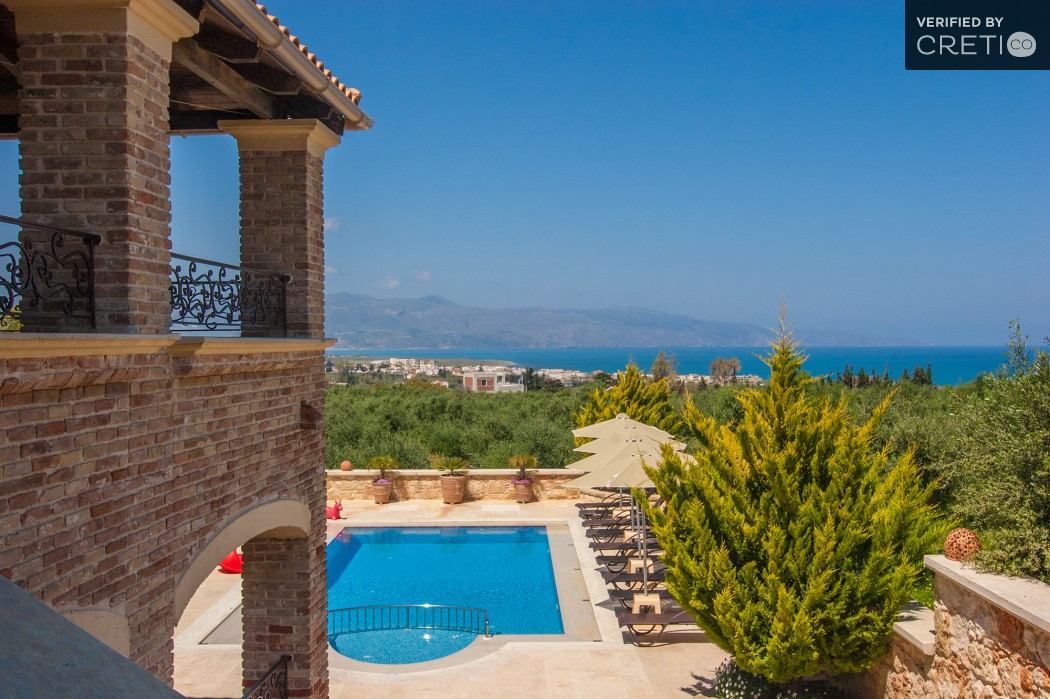Enjoy the beautiful sea view of Kontomari from your villa's balcony