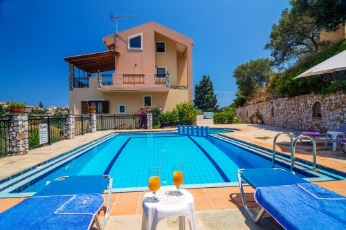 Holiday Villa with private pool in Stalos Chania Crete