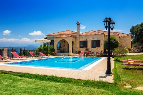 Countryside villa with wonderful mountain and sea views