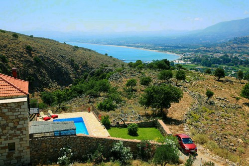 Chrysa private traditional villa with sea and mountain views