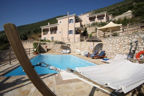 Feel the breeze of the Ionian Sea by the villa's pool