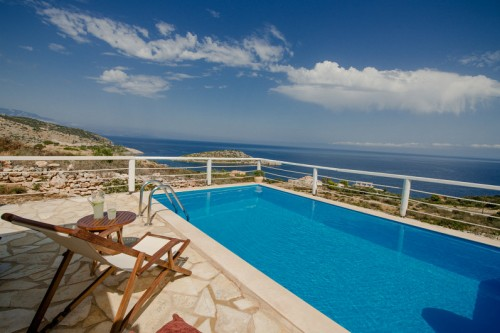 2 Bedroom sea view traditional villa Yria with private pool
