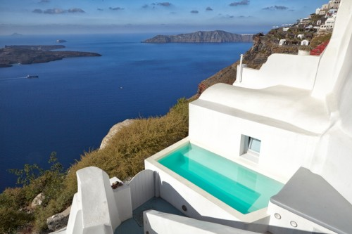Two cave houses with private pool  in Imerovigli, Santorini