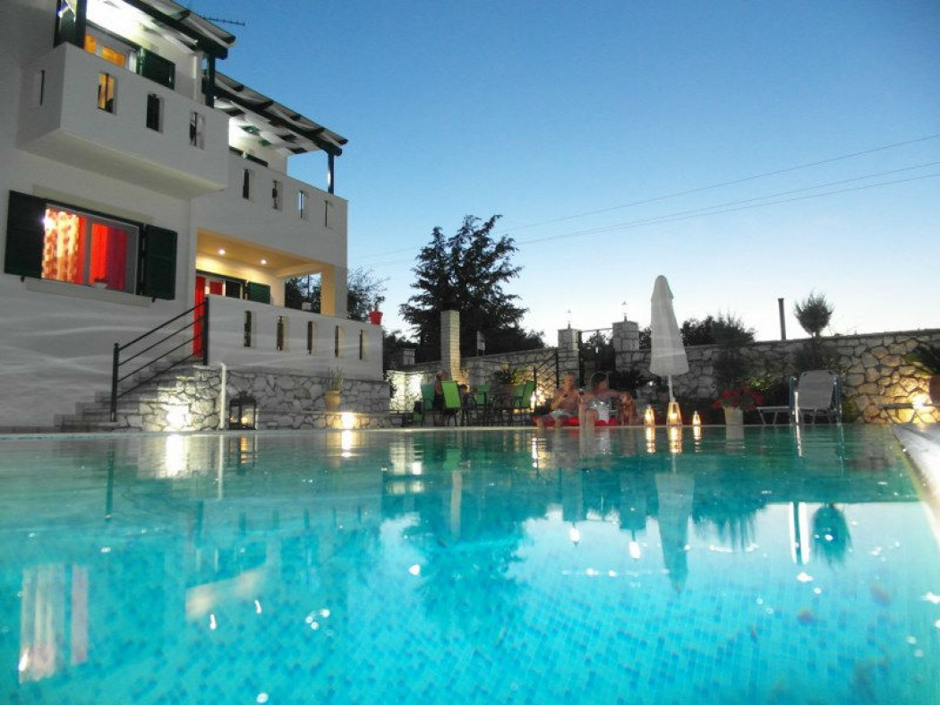 Luxury villa exclusive pool with view Ionian sea in Lefkada