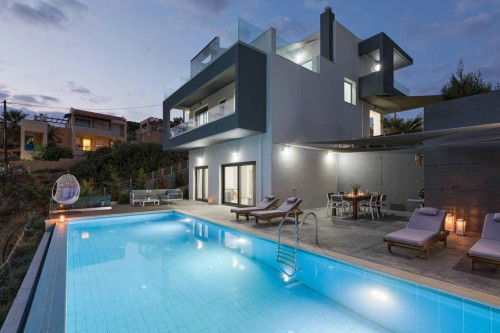 Holiday pool villa  in the seaside village of Bali  A
